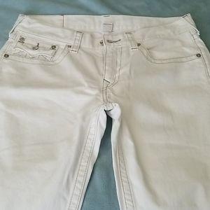 True Religion Mens Jeans White